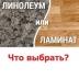 Что лучше: линолеум или ламинат?